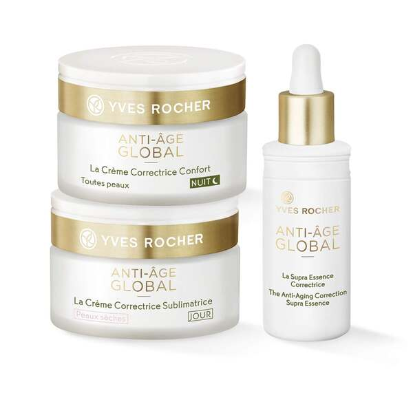 Set - Anti-Age Global Dry Skin, Serum, Dagkräm, Nattkräm